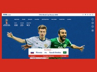 FIFA World Cup Russia 2018 - Website Homepage