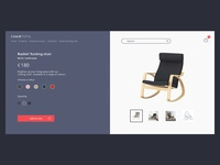 Online Furniture Retail Concept