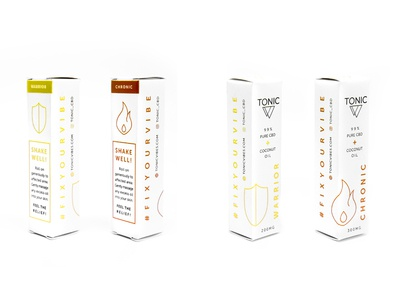 Tonic Packaging - Topical Boxes health shield flame photo hemp fire tonic minimal cbd box packaging package