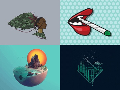 KindTyme's 2018 Year in Review nature scenic goddess lips joint weed cannabis animation 2d animation illustration 3d animation 3d top 4 review best of 2018