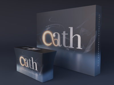 Oath Cannabis & Hemp Insurance | Booth Design 3d render oath oregon marketing custom render glow case study rebrand hemp cannabis smoke 3d trade show booth insurance