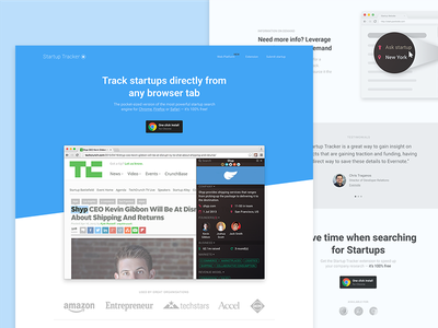 Startup Tracker - Final Landing Page ux ui study process optimization page landing iterations header conversion