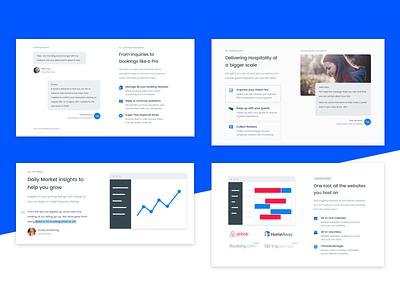 Features - Smartbnb Website redesign landing page clean blue redesign process features landing web ux