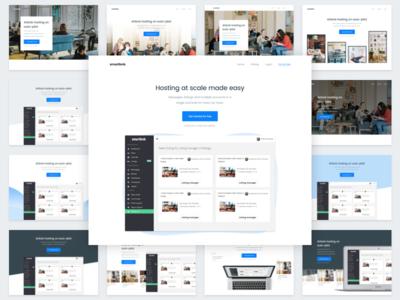 Header Iterations - Smartbnb Website redesign
