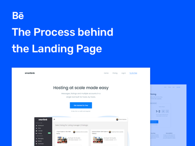 The Process behind the Landing Page- Smartbnb Website pricing plans pricing page landing page pricing clean blue redesign process features landing web ux