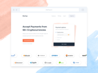 Cryptocurrency Payment Landing Page - Header