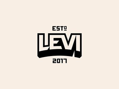 Levi Badge lettering typography type design graphic design illustrator illustration identity logo marketing branding icons iconography badge