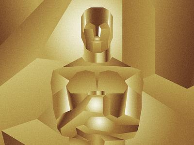 Oscar award trophy grain academy awards oscars gold geometric art deco design illustration