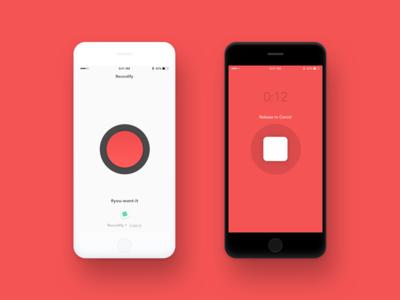 Recordify - Send voice message to Slack record simple white black red minimal clean voice message message voice slack recordify