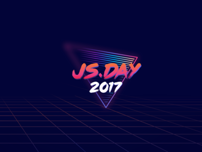 JS Day Brand Exploration js day js poster art retro retro wave colorful 80 eighties
