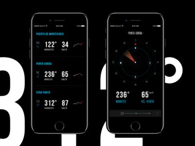 Cargo Ships Compass design ui ux app interface fui blue black dark concept ios iphone