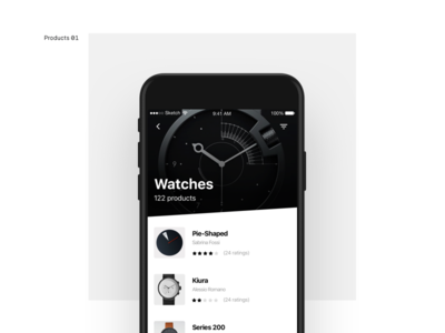 Products List products grid simple flat ios minimal clean interface app ux ui design