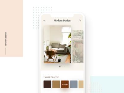 Interior Design - Round 2 design ui ux app interface clean minimal ios simple plants interior