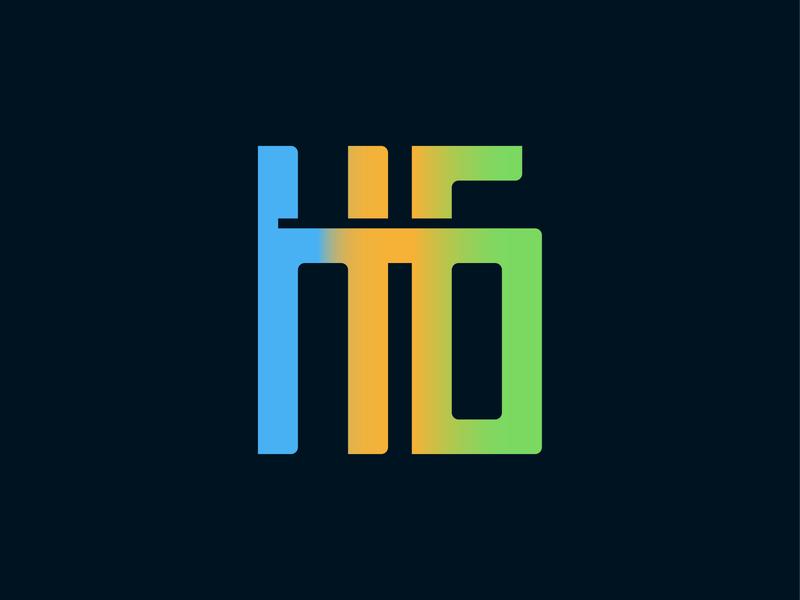 HG gradient logo band band logo