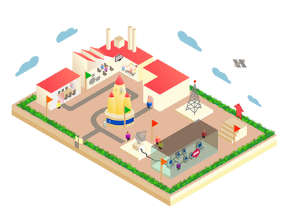 Expresiv Workflow - Illustrated inkscape vector drawing 3d illustration axonometric isometric