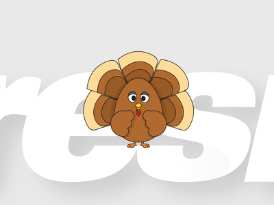Happy Thanksgiving vector sketch doodle turkey thanksgiving