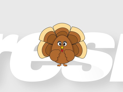 Happy Thanksgiving vector sketch doodle turkey thanksgiving