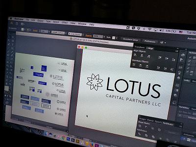 Lotus Capital Partners logo design icon logo design logo foundation6 css design uiux webpage website landing page