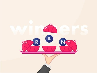 Here are the Players winner fun vector serve illustration giveaway invite