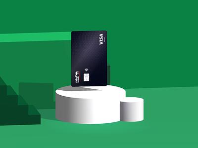 Credit Card Floating Presentation banking app floating 3d credit card card banking bank design