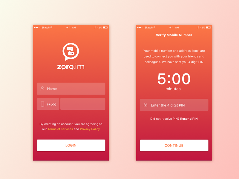 Login Screen  ios android user interaction interface design ux ui
