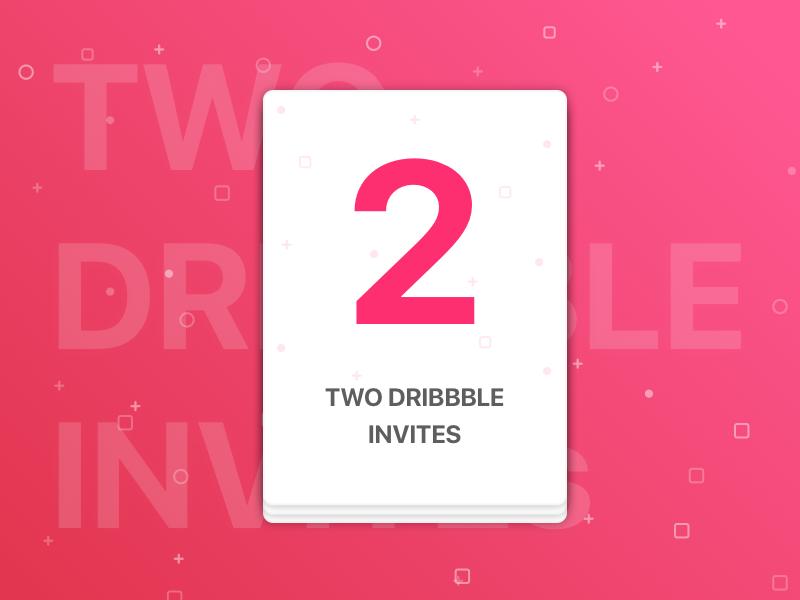 Two Dribbble Invites submit invites player invitation 2 invite giveaway dribbble