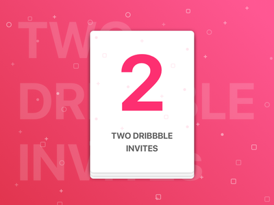 Two Dribbble Invites submit invites player invitation 2 invite giveaway dribbble