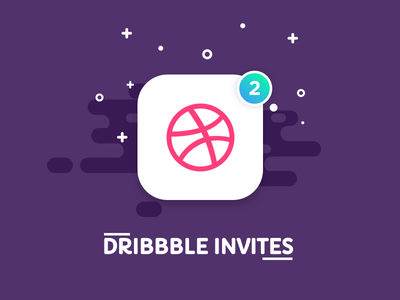 2 Dribbble Invites purple design illustration ui player invitation dribbble invite