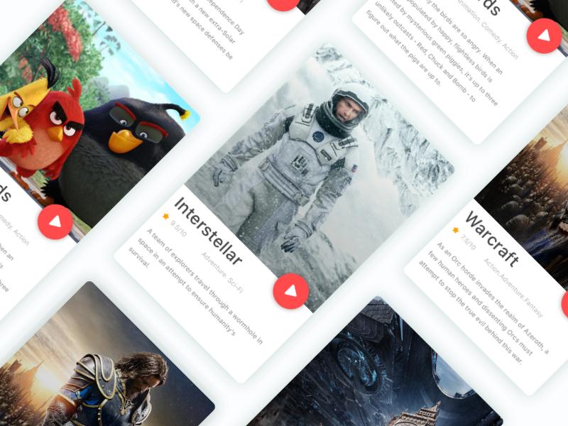 Movie Card - Concept user interface ux ui design material app concept filme movie card