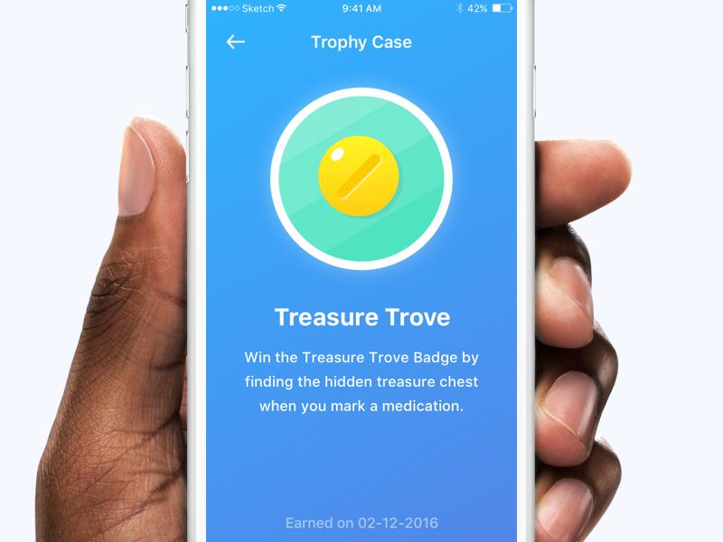 Trophy Icon v2  badge health karate user illustration ux ui design medication treasure trophy app