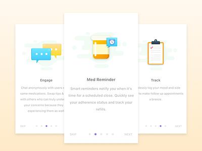 Onboarding Design app ios illustrator workflow on boarding user health interface design ux ui karate