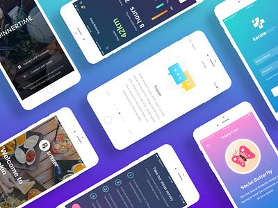iOS Screens  work best 2017 gradient colors user mobile app design interface ux ui