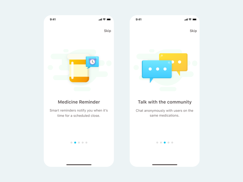 Health Care Onboarding walktrough onboarding illustration interaction blue family illustrator colors concept ux care mobile health ios app design interface ui