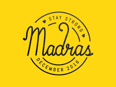 Madras - Typography cyclone december madras chennai typography