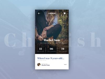 Cherish - Profile UI