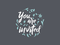 You are invited - Typography