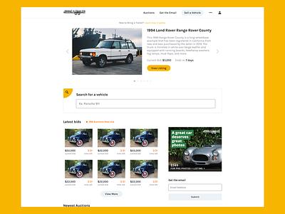 Bring A Trailer ui ux design web design marketing landing page