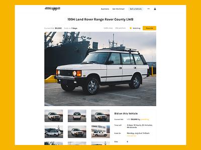 Bring A Trailer web design landing page ux design ui