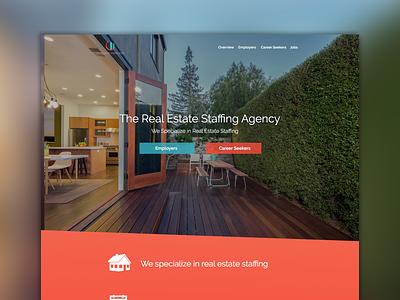 Staffing Agency Site Design career site mock design web design