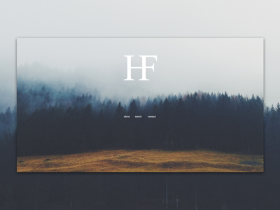 Holy Fawn  simple minimal trees forest band band site web design