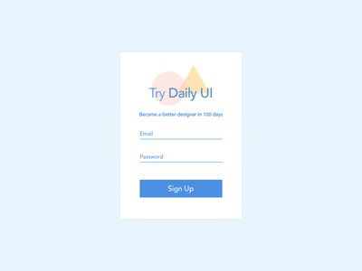 Day 1: Daily UI - Sign Up Page ui sign up design dailyui