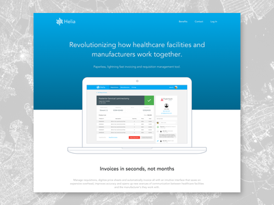Marketing Page landing page marketing ux ui design invoice invoicing healthcare