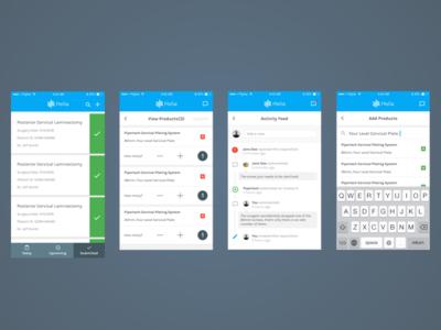 Helia Native App Screens