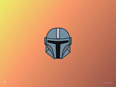 #1.1 Character Heads | Star Wars: The Mandalorian darth vader stormtrooper boba fett helmet mandalorian star wars icon logo vector illustration design minimal