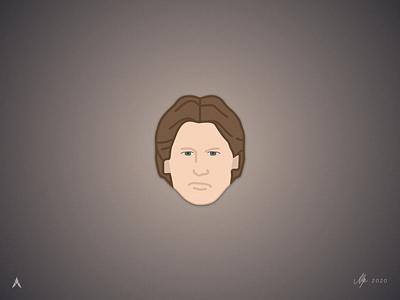 #1.4 Character Heads | Star Wars: Han Solo sketch design minimal flat illustration art illustration illustrator star wars han solo icon vector logo