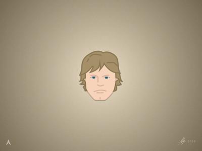 #1.5 Character Heads | Star Wars: Luke Skywalker sketch illustration art illustrator jedi force skywalker luke skywalker luke star wars minimal logo vector illustration design