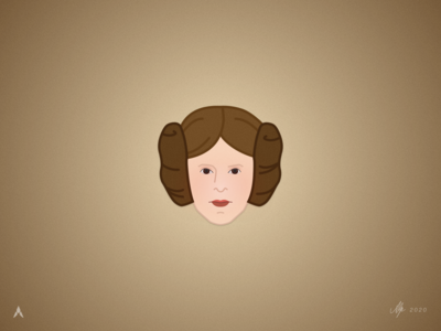 #1.6 Character Heads | Star Wars: Princess Leia minimal icon star wars art star wars day a new hope carrie fisher illustrator sketch princess leia star wars design illustration vector logo
