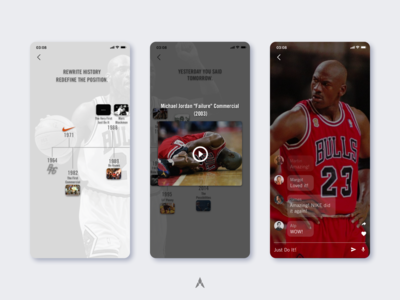 #1.4 Nike | NIKEWAY: Social Networking in Workplace innovative jordan mobile app sports retail puma under armour adidas nike sketch responsive ux ui branding clean design minimal