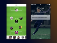 NFX - Real Life Football App Pitch Game Page
