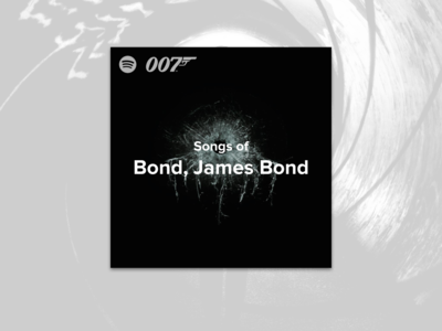 #7 - Album Cover: Songs of the James Bond Spotify Playlist